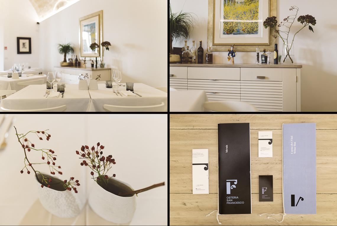 osteria ristorante grafica concetto design dettagli emozione