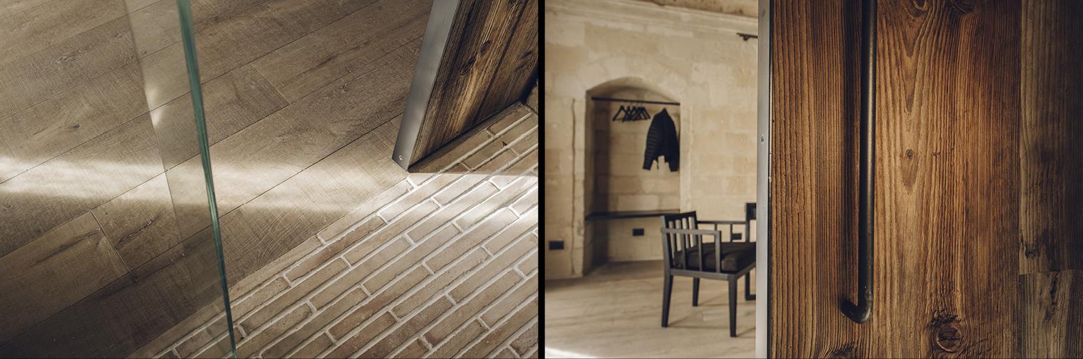 porta legno pavimento cotto antico